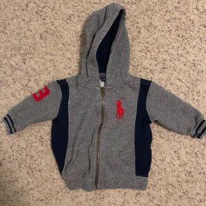 Baby boy Ralph Lauren hoodie 9 months